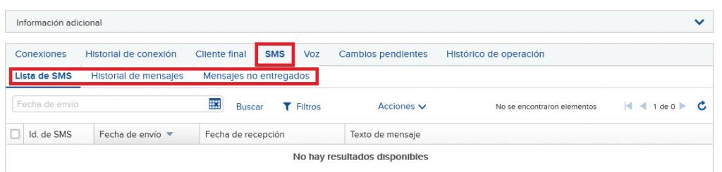 Lista de SMS en una SIM M2M